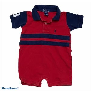 Polo Ralph Lauren Striped Romper 12 Month Baby Boy